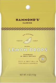product image for Hammond's Candies Old Fashioned Lemon Candy All Natural Drops 4 Ounce bag (Lemon, 4 Ounce)