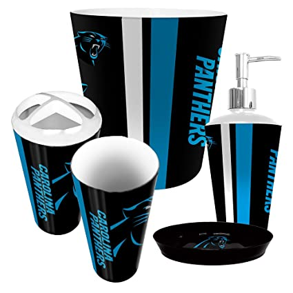 Exceptionnel Image Unavailable. Image Not Available For. Color: Carolina Panthers 5  Piece Bathroom Set
