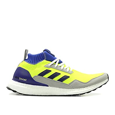 promo code 5cb49 467ff Amazon.com   adidas Men Ultraboost Mid Proto (Yellow Solar Yellow hi-res  Blue White)   Athletic