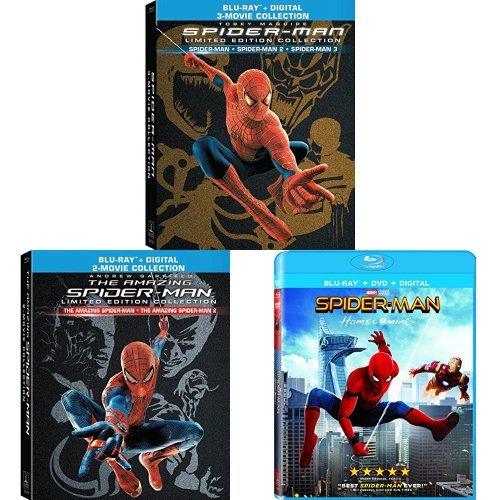 (Spider-Man (2002) / Spider-Man 2 (2004) / Spider-Man 3 (2007) (4 Discs) Limited Edition Giftset + Amazing Spider-Man / The Amazing Spider-Man 2 + Spider-Man: Homecoming)