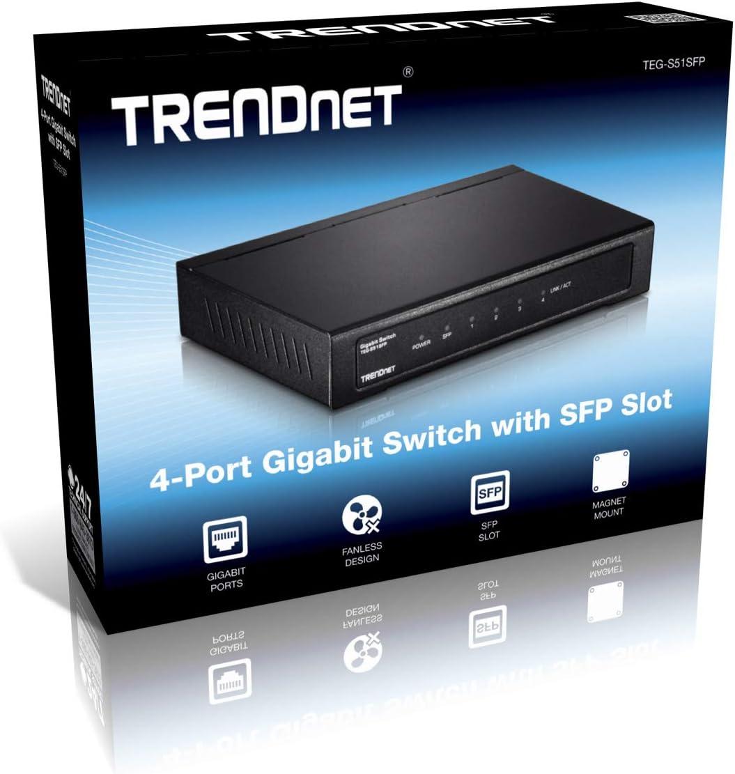 TRENDnet 4-PORT GIGABIT SWITCH WITH SFP