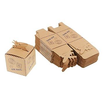 Sharplace 50 Pedazos de Retro Cajas de Avión de Papel Diseño Europeo Accesorios DIY de Ceremonia Boda Cumpleaños: Amazon.es: Juguetes y juegos
