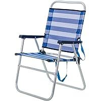 Silla de Playa Plegable Azul de Aluminio