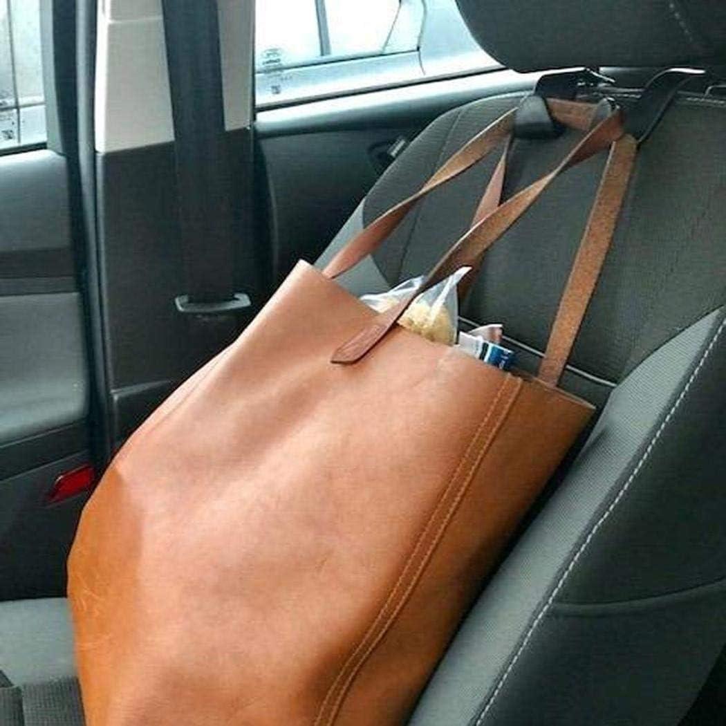 Ultrey 4 Pack Headrest Hooks for Car Universal Car Vehicle Back Seat Headrest Hook Hanger Storage for Purse Groceries Bag Handbag