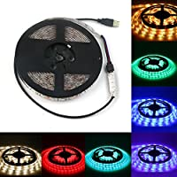 Jian Ya Na Waterproof USB LED Strip 300 Units SMD 5050 LEDs Light Strips for Home Decoration (5m (16.4 feet), RGB)