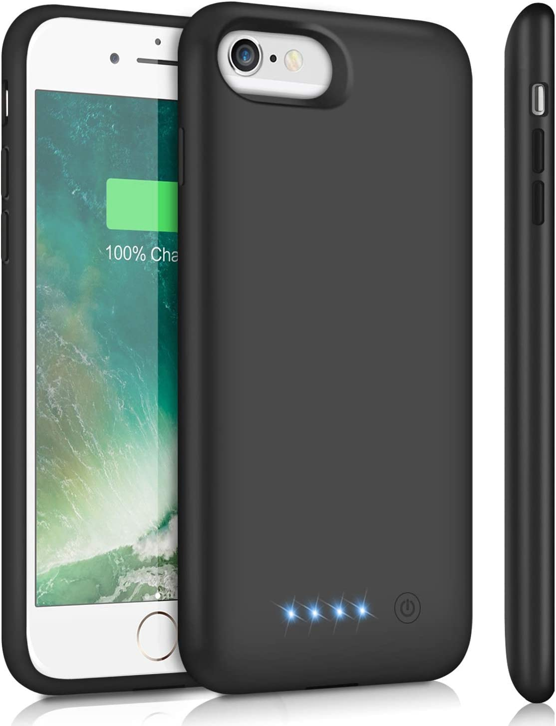 HETP Battery Case for iPhone 6S 6,Upgraded 6000mAh Rechargeable Charging Case for iPhone 6 External Battery Pack for iPhone 6S Charger Cover Apple Portable Power Bank [4.7 inch]- Black