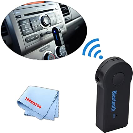 Wireless Car Speakers >> Amazon Com Tronixpro Wireless 3 5mm Audio Receiver With Mic