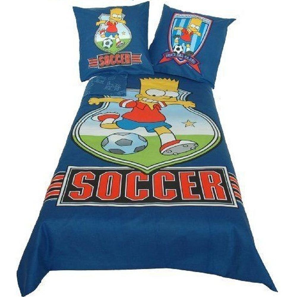 Juego de cama con diseño de The Simpsons Bart Soccer https://amzn.to/2VVWSpT