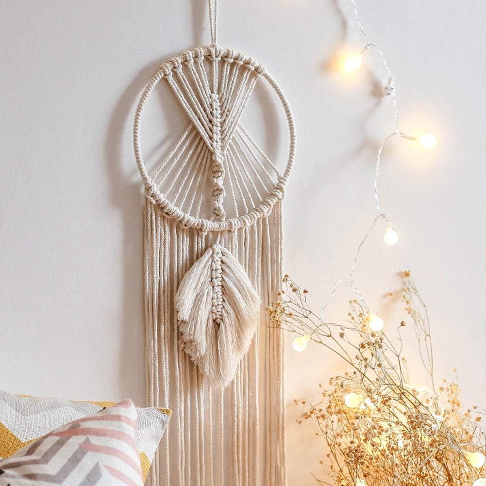 Hocaies Tenture Murale en macram/é Dreamcatcher Attrape-r/êves Fait Main en Coton pour Chambre Salon D/écoration De La Maison