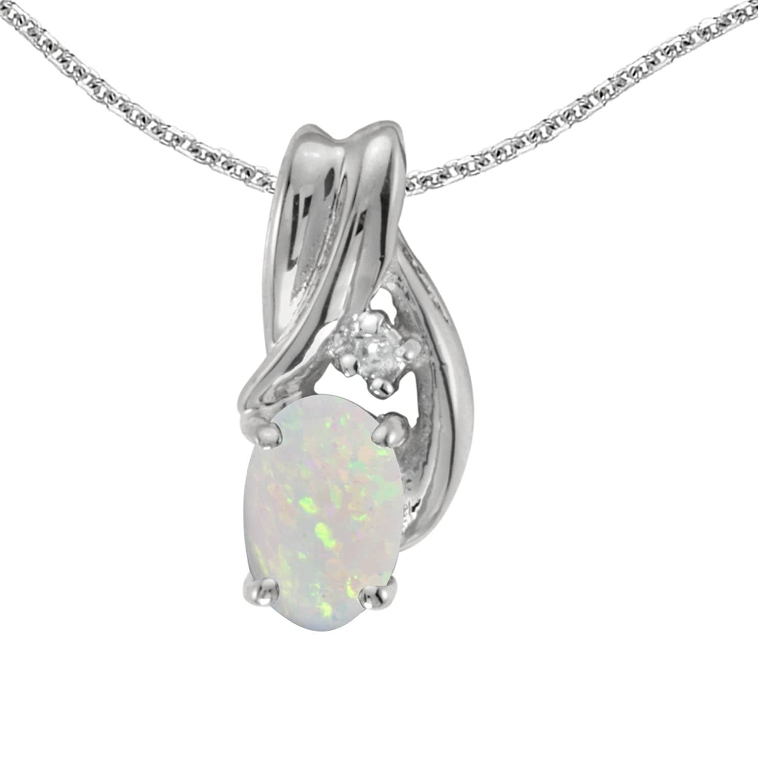 sterling silver opal white boulder in necklace