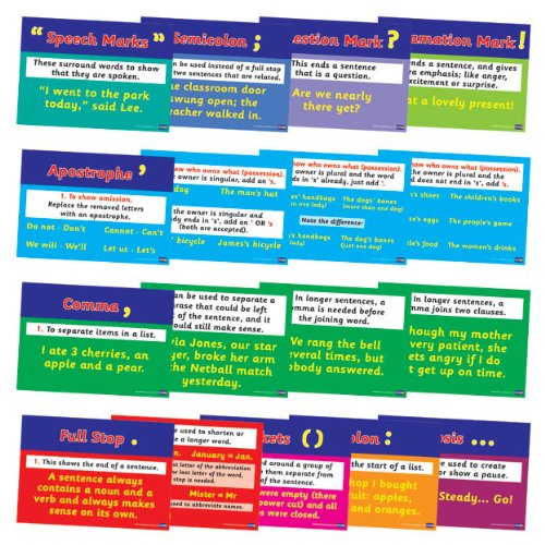 Primary Teaching Services Ppp A4 Ideal Classroom Display Punctuation Poster Pack of 17