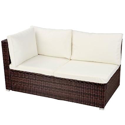 Amazon.com: Miadomodo rtsf04 polyrattan sofá de esquina 130 ...