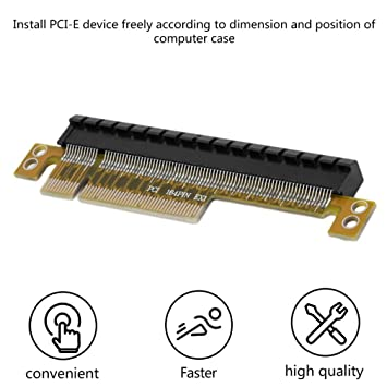 PCI-E Express 8X to 16X Adapter Riser Card Durable Without Extended Cable NEW