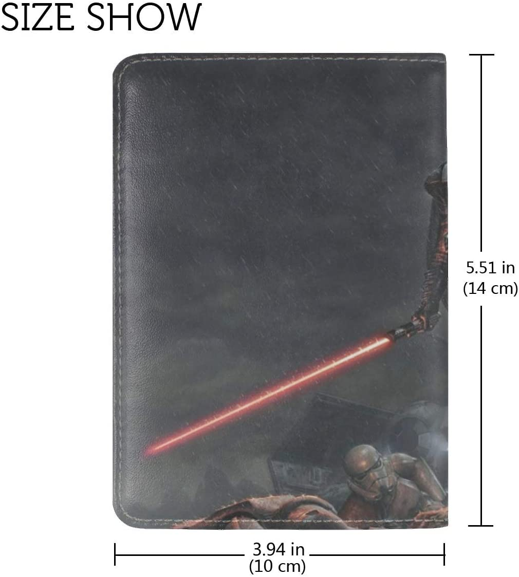 Star Wars Darth Vader Art Rain Leather Passport Holder Cover Case Travel One Pocket