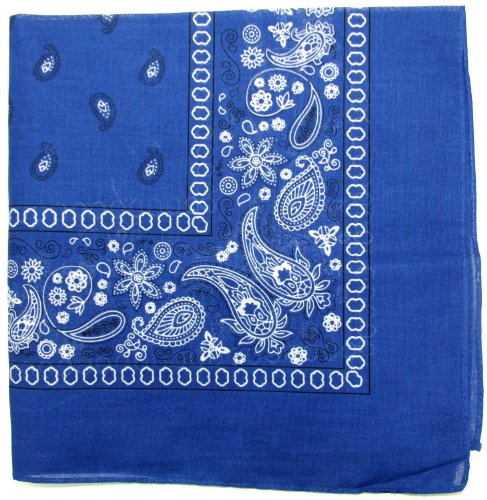 (Novelty Bandanas Paisley Cotton Bandanas (Royal Blue, 22 X 22 in))