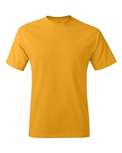 27cddef34 Hanes Mens Tagless 100% Cotton T-Shirt, Small, Gold