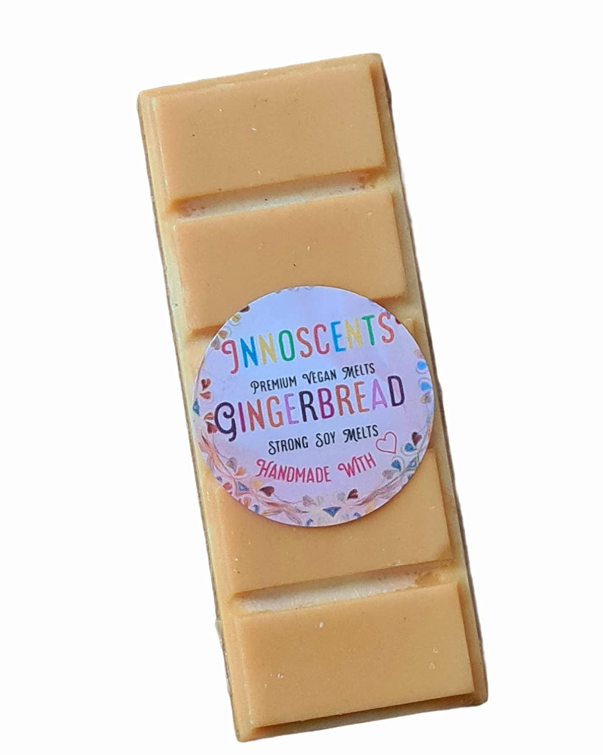 Gingerbread Wax Melts   Highly Scented  32 Eco Soy Wax   Vegan Cruelty  Free & Pet Safe   Snap Bar