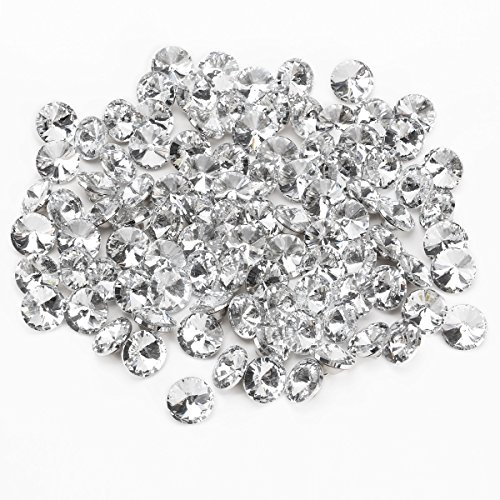 Surepromise 100x GLASS DIAMANTE CRYSTAL DIAMOND EFFECT CHAIR SOFA HEADBOARD UPHOLSTERY SEWING 25 MM BUTTONS - Diamond Upholstery