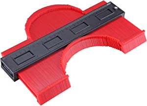 Contour Gauge Irregular Profile Gauge Duplicator Tiling Laminate Tiles Edge Shaping Wood Measure Ruler Plastic Woodworking Tools Profile Jig Guide (10 Inch)