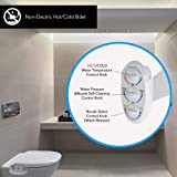 Serenelife Bathroom Bidet Seat Attachment - Fresh & Hot Water Adjustable Function with Plastic Sprayer for Full Tushy Cleaning - Standard Non Electric Mechanical Self Clean Personal Hygiene SLTLSP14