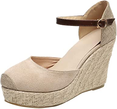 Women's Ankle Strap Round Closed Toe