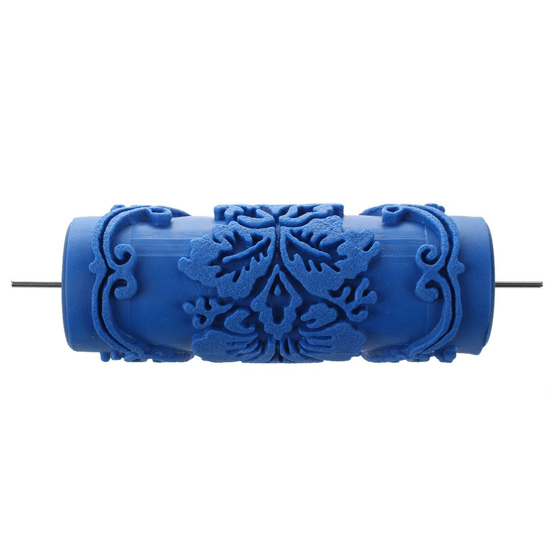 Roller - SODIAL(R)Paint Roller with decorative motifs for Machine Designs flowers / blue 15 cm