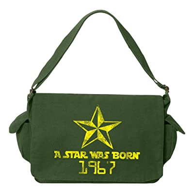 Tenacitee A Star Was Born 1967 Brushed Canvas Messenger Bag