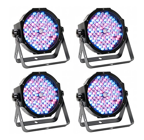 (4) American DJ Mega Par Profile Plus Bright LED Par Can Wash DJ Effect Lights