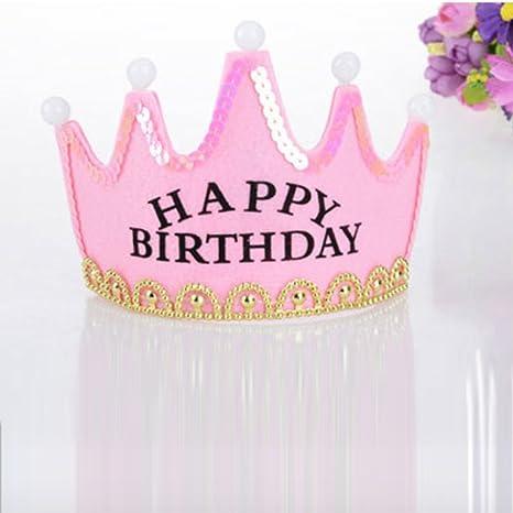frcolor gorro cumpleaños Happy Birthday cumpleaños tiara ...