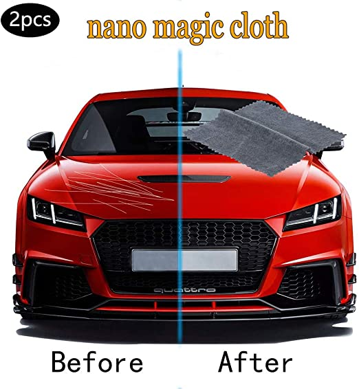 Car Scratch Remover Cloth Multi Purpose Nano Magic Automotive Paint Scratch Repair Polishing Cloth Car Cleaning Care Maintenance Accessories