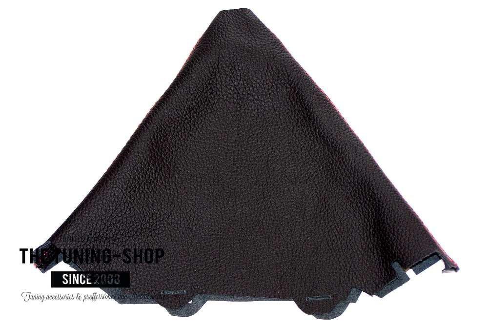 2015/Schaltsack Custom Made Schaltsack schwarz echtes italienisches Leder mit schwarzen N/ähten NEU Passend f/ür Audi A4/S4/B8/2008