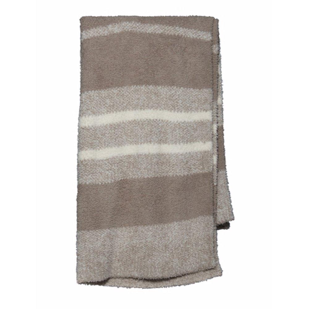 Barefoot Dreams Cozychic Multi Stripe Heathered Blanket 45''x60''