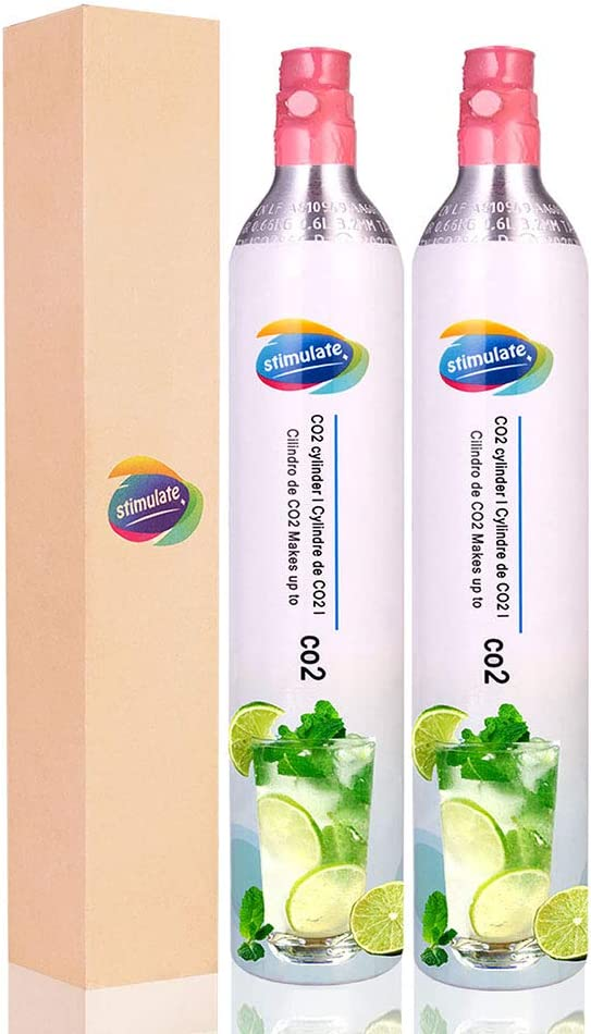 Stimulate 60L CO2 Carbonator, Compatible with Sodastream Appliances, Cartridge Refill Set of 2 pcs