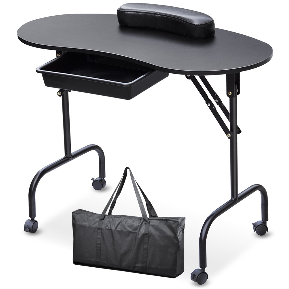 SWT Portable Manicure Table Nail Technician Desk Workstation With ...