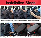 Bwen Car Central Console Armrest Cover, Black