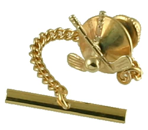 Tachuela Empate de oro 9ct palos de golf personalizados ...