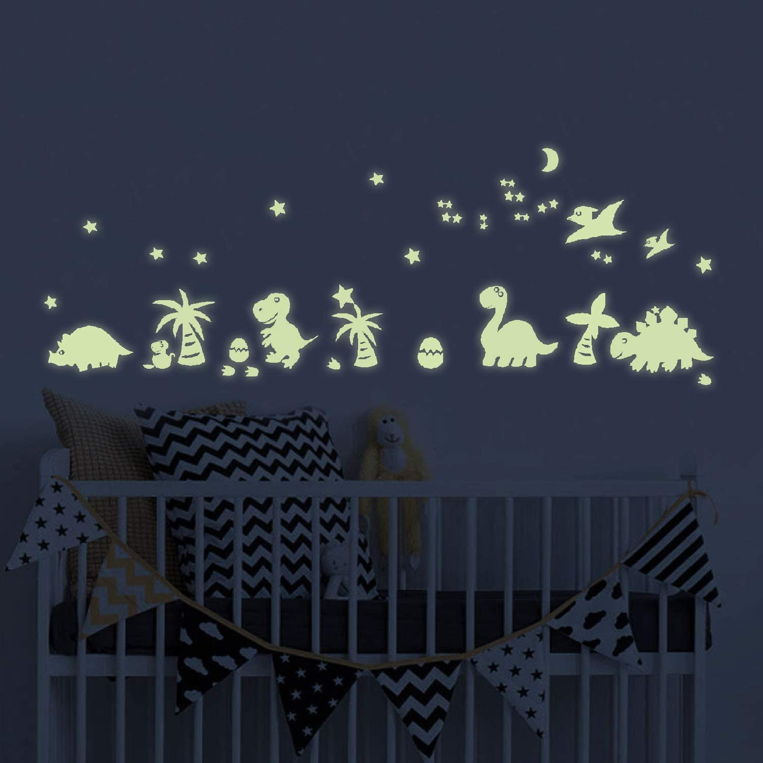 Cheap Room Decor for Bedroom Wall Decoration Dinosaur Room Decor for Boys and Kids Upgrade Glow in The Dark Wall Stickers for Children/'s Room