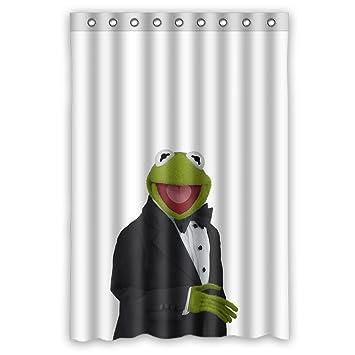 Custom Wasserdicht Badezimmer Duschvorhang DIY Süß Und Lieblich Kermit  Cartoon Design, Mehrfarbig, 48 Inches