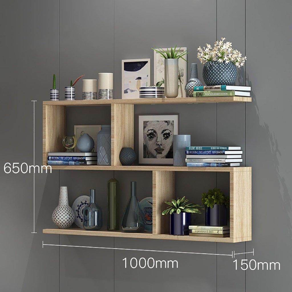 壁の本棚 本棚の壁の棚、壁のキャビネット、木製の仕切り、パンチフリーのベッドルームの壁掛けラック、シンプルでモダンな 花の棚 (サイズ さいず : 60 * 15 * 65cm) B07FCW47QP 60*15*65cm 60*15*65cm