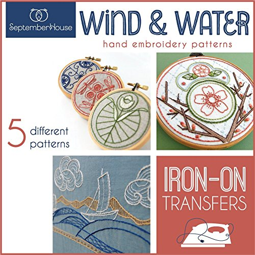 (Hand Embroidery Iron On Transfers Wind & Water Japanese Inspired Embroidery Patterns)