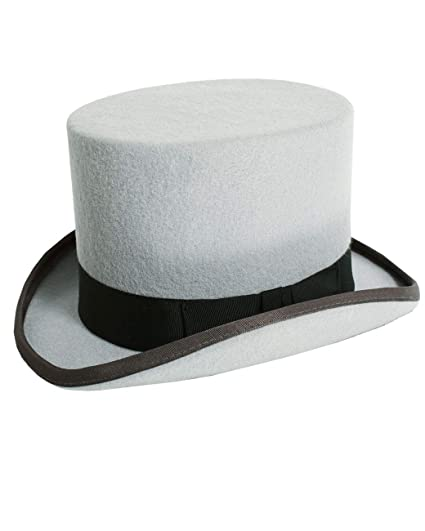 6d70aef3312 Christys London Mens Grey Top Hat Luxury Wool Felt Formal Wedding Races-56