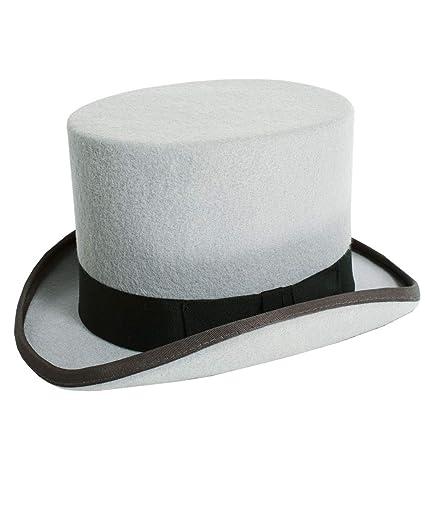 6d70aef3312 Christys London Mens Grey Top Hat Luxury Wool Felt Formal Wedding Races-56