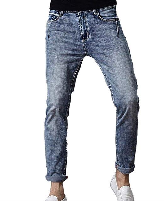 Hombres E Pantalones Vaqueros del Ocio Pantalones Slim Fit ...