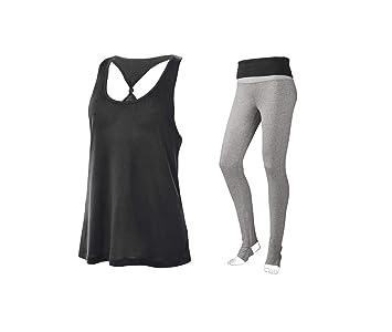 Mujer Fitness Deporte Yoga Outfit Top + Leggings Pantalones ...