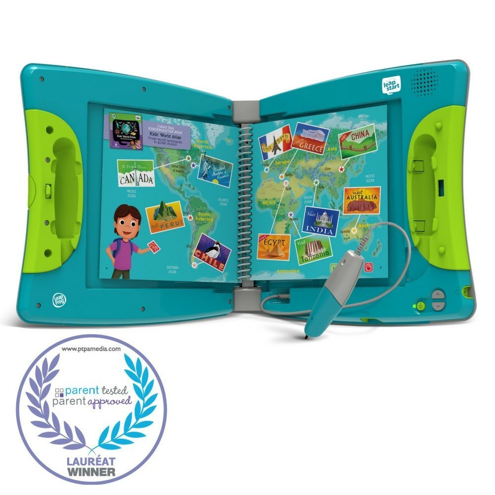 LeapFrog LeapStart Kindergarten & 1st Grade Interactive Learning System For Kids Ages 5-7 With Level 1 Preschool, Pre-Kindergarten Activity Books: Shapes, Math, Daily Routines & Alphabet Fun Bundle by LeapFrog (Image #2)