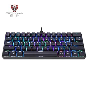 gaddrt K61 61-Key RGB Bluetooth filaire Multi-Device teclado mecánico marrón interruptor para ordenador PC: Amazon.es: Informática