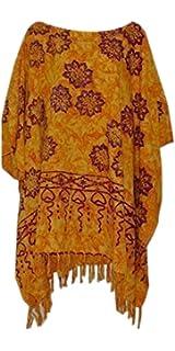 Cool Kaftans Haut Kaftan Femme Soft Sarawak Violet Orange Bleu Noir