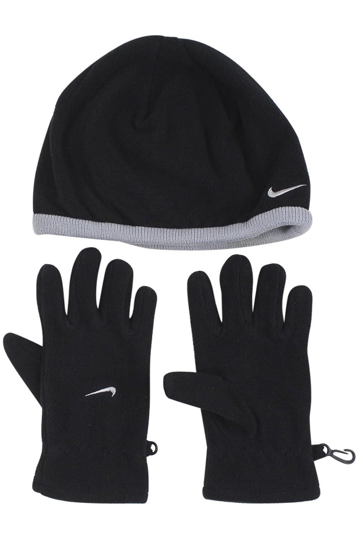 Amazon.com  NIKE Fleece Beanie   Gloves Set (Big Boys  One Size)  Sports    Outdoors 10a1b6c0a6a