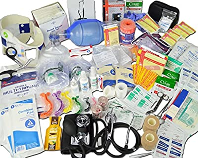 Lightning X Deluxe Stocked Medical EMS First Aid Responder Trauma EMT Fill Kit C from Lightning X Products