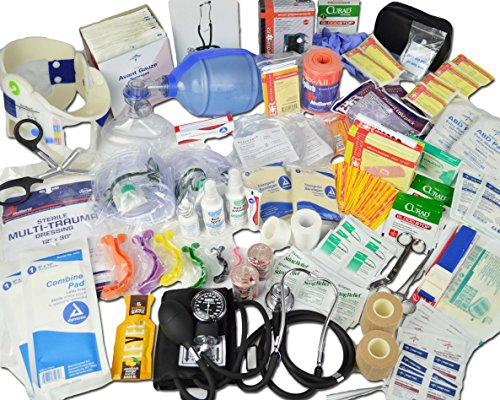 (Lightning X Deluxe Stocked Medical EMS First Aid Responder Trauma EMT Fill Kit)